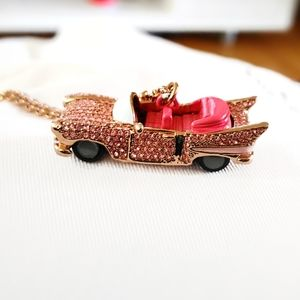 RARE Kate Spade Cadillac Pave Necklace Yours Truly